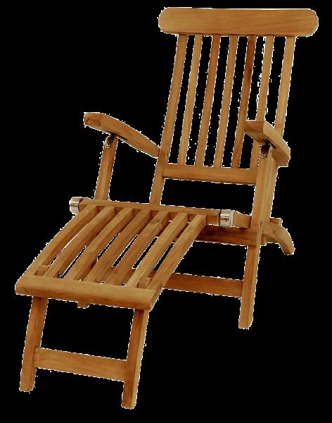 Teak Deckchair 148 x 60 cm Höhe 97 cm der Klassiker