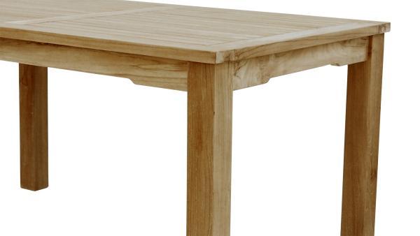 bergholz holzimport gmbh teak tisch mit 6 cm festen. Black Bedroom Furniture Sets. Home Design Ideas