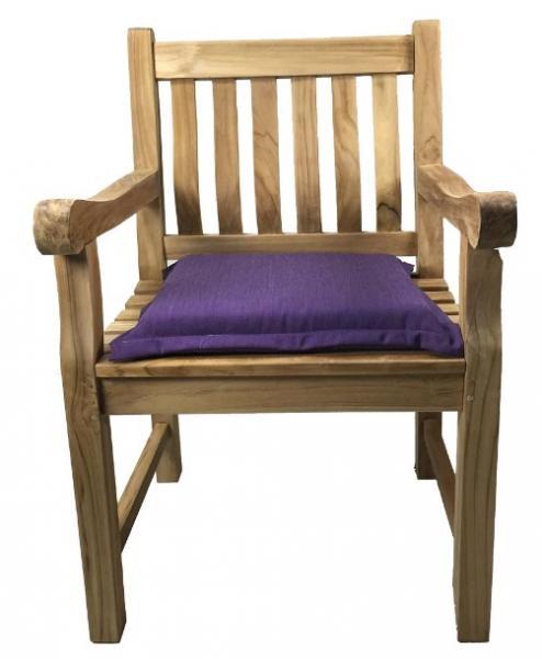 bergholz holzimport gmbh polsterauflage sitzkissen 48x48cm von best violett 7cm 60. Black Bedroom Furniture Sets. Home Design Ideas