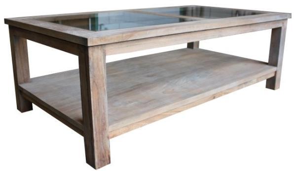 bergholz holzimport gmbh couchtisch teak shabby grey mit glasplatte 120x60 cm h he 40 cm. Black Bedroom Furniture Sets. Home Design Ideas
