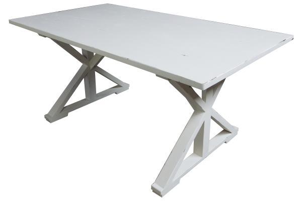 bergholz holzimport gmbh teak tisch white wash mit kreuzbeinen 170 x 95 cm h he 78 cm. Black Bedroom Furniture Sets. Home Design Ideas