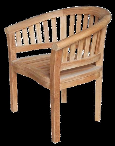 bergholz holzimport gmbh teak sessel banane erdnu 78 x 60 cm h he 83 cm die stabilen. Black Bedroom Furniture Sets. Home Design Ideas